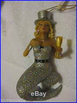 December Diamonds Mermaid MISS CHAMPAGNE ornament Mrs Ms champane champain