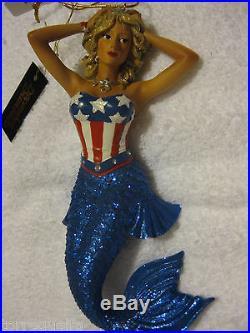 December Diamonds Mermaid Star Ornament Stripe July 4 4th