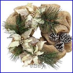 Decor Natural Poinsettia 20 Wreath Holiday Time Christmas Sale new gb4