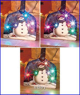 Decorative Color-changing Lighted Snowman Shovel