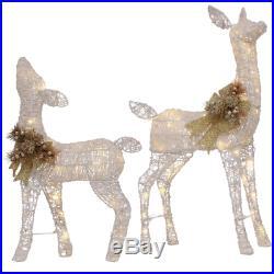 Deer Doe Yard Decoration 36 in. LED Lights Outdoor Christmas Holiday Yard NEW