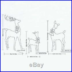 Deer Family Set of Three 3 Reindeer Christmas Indoor Outdoor 656 LED Lights Xmas