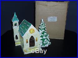 Department dept 56 snow village STONE CHURCH #50591 WithBOX