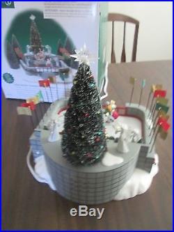 Dept 56 Rockefeller Plaza Skating Rink Christmas In The