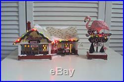 Dept Department 56 Snow Village Christmas THE FLAMINGO MOTEL 799930 Lemax OVP