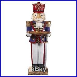 Design Toscano Nutcracker Soldier Butler Holiday Pedestal Table