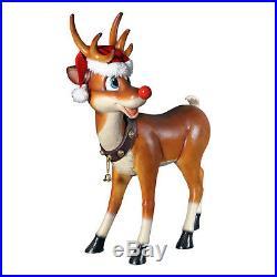 Design Toscano Santa's Christmas Red-Nosed Reindeer Statue Christmas Decoration