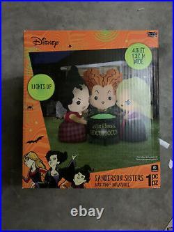 Disney 4.5 ft Hocus Pocus Sisters Air Blown Halloween Inflatable SHIPS FREE ASAP
