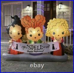 Disney 4.5 ft Hocus Pocus Sisters Scene Air Blown Halloween Inflatable Brand New