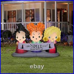 Disney 4.5 ft Hocus Pocus Sisters Scene Air Blown Halloween Inflatable New