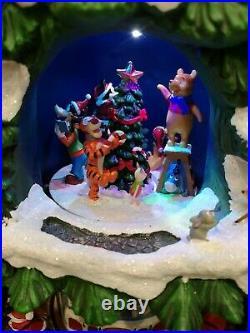 Disney Christmas Tree 17.5 Music Box! LED Lights Xmas Decorations SEE VIDEO