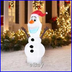 Disney Frozen 5′ OLAF in Santa Hat Airblown Christmas Inflatable Yard Decoration