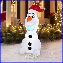 Disney Frozen Olaf 5 Feet Inflatable Home Decoration Christmas Santa Claus Decor