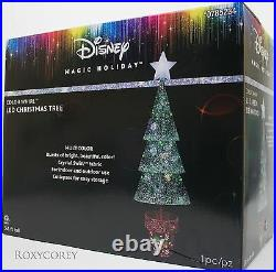 Disney Gemmy 3.8 ft Color Whirl LED Christmas Tree Sculpture Indoor Outdoor NIB