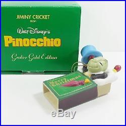 Disney Grolier Porcelain Treasure Gold Edition Ornament Jiminy Cricket Very Rare