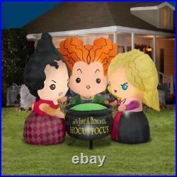 Disney Hocus Pocus Sisters 4 Ft Tall -LED Lights- Halloween Yard Inflatable NEW