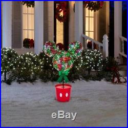 Disney Magic Holiday Mickey Mouse Lighted LED Topiary Tree 3.2 Feet Tall