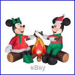 Disney Outdoor Mickey & Minnie Mouse Christmas Inflatable Airblown Yard Decor
