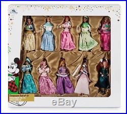 Disney Store 2017 Christmas Tree Sketchbook Decoration Disney Princess 10 Pack