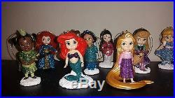 Disney Weihnachts Ornament Set 11teile Ariel, NEU Glitzer Christbaumschmuck Kugel