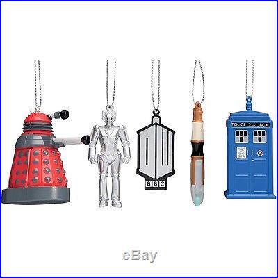 Doctor Who 4 Piece Plastic Christmas Ornament Set