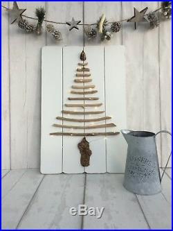 Driftwood Christmas Tree Light Up 60cm Shabby Chic Home Decor Gift Handmade