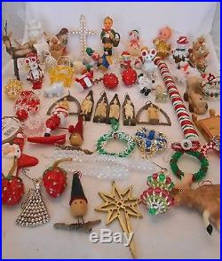 ESTATE FIND! VINTAGE CHRISTMAS ORNAMENT COLLECTION 58 PIECES MIXED LOT