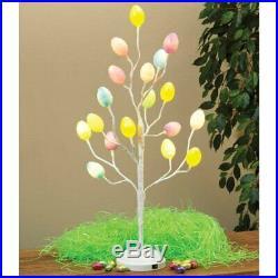 Easter Egg Tree 18 LED Lights Spring Easter Centerpiece Table Decor Colorful Egg