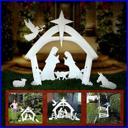 Easy-Go 4′ Tall Beautiful Outdoor Christmas Nativity Scene Yard Decoration Set