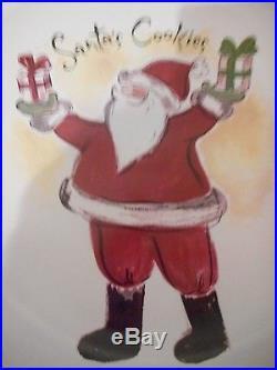 Eddie Bauer Santa's Cookies 8 Plate Christmas platter