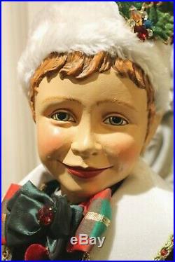 Edler Katherine´s Collection Elf Wichtel Weihnachtself Junge Puppe Figur 89cm