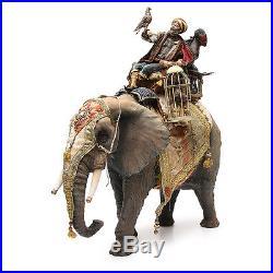 Elefant mit heiligen König und Diener 30cm Angela Tripi