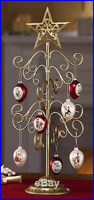 Elegant Metal Special Christmas Ornament Table Tree Stand Holder NEW
