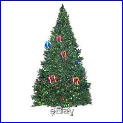 Elf Stor Superior Light Show Christmas Tree with1000 Four Color LED Lights 9' Tall