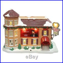 Elvis Presley Heartbreak Hotel Christmas Village LED Illuminated & Musical House