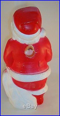 Empire Light Up Santa Claus Blow Mold Christmas Decoration 1968 Vintage Good