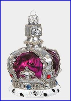 English Royal Purple Crown Polish Glass Christmas Ornament Queen Decoration New