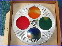 Evergleam Tri Lite 4 Color Revolving Christmas Tree Stand In Box Lights Up