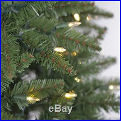 Evergreen Classics 7′ Brighton Pre-Lit LED Artificial Fir Christmas Tree & Stand