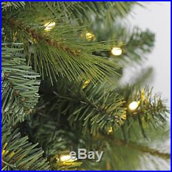 Evergreen Classics 7 Foot Lansing Pre Lit LED Artificial Christmas Tree