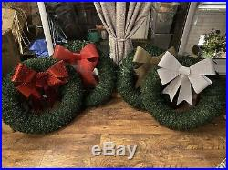Extra Large Classy Christmas Wreath Handmade 32, Indoor/outdoor