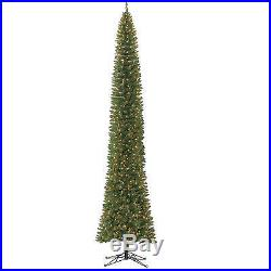 Extra Slim Artificial Christmas Tree 12′ Home Accents Big Size Xmas Clear Lights