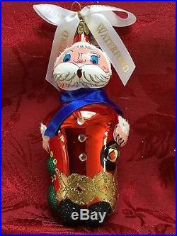 FLAWLESS Stunning WATERFORD Ltd Edition NORTH POLE SANTA Christmas Ornament
