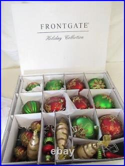 FRONTGATE HOLIDAY COLLECTION CHRISTMAS Xmas ORNAMENTS Lot OF 17