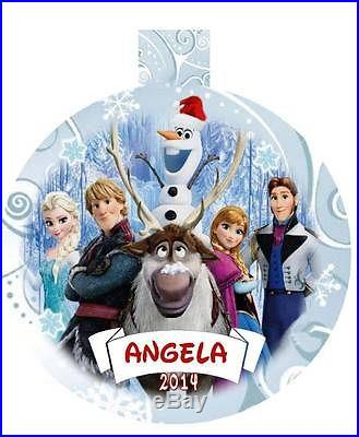 FROZEN Movie Characters Personalized Acrylic Ornament Any Name & Message AWESOME