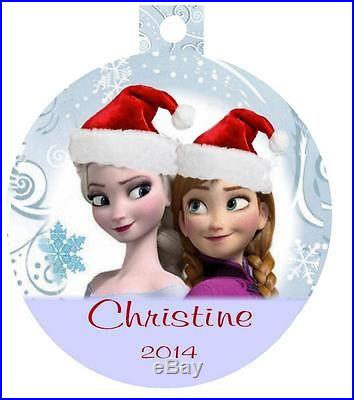 FROZEN Movie Personalized Christmas Ornament Any Name & Message Dree Ship