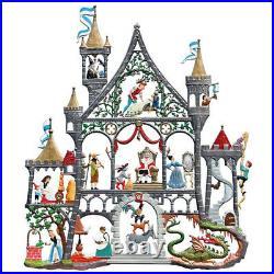 Fairy castle 23x20cm, window painting from tin Wilhelm Schweizer