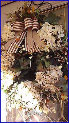 Fall, Autumn, Thanksgiving, Designer, Boutique Style Door Wreath Ready To Ship