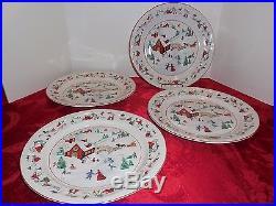 Farberware White Christmas Dinner Ware 20 piece set/4 Place Settings