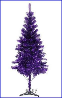 Fawyn 6′ Ft Sparking Gorgeous Folding Artificial Tinsel Christmas Tree Purple